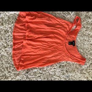 Tops - Orange crop top